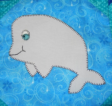 Beluga Applique Block by Ms P Designs USA