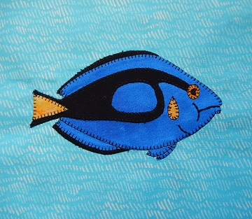 Blue Tang Applique by Ms P Designs USA