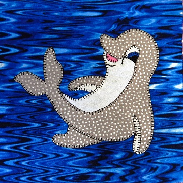 Bottle-nosed Dolphin Applique by Ms P Designs USA