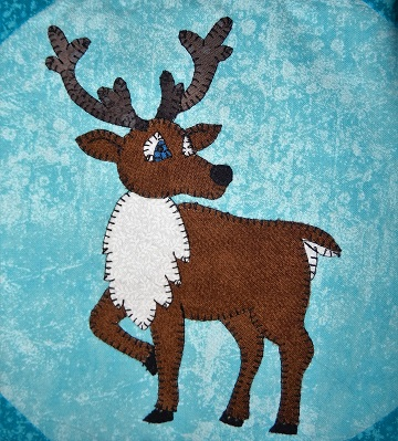 Caribou Applique Block by Ms P Designs USA