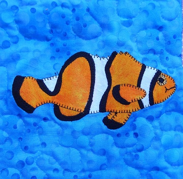Clownfish Applique by Ms P Designs USA