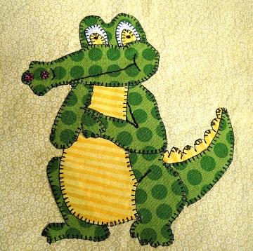 Crocodile Applique by Ms P Designs USA
