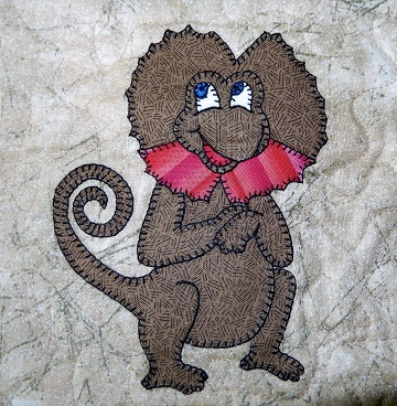 Frilled Lizard Applique by Ms P Designs USA