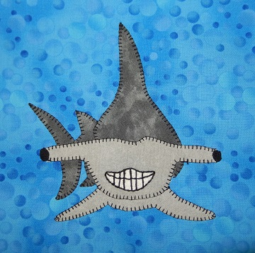 Hammerhead Shark Applique by Ms P Designs USA