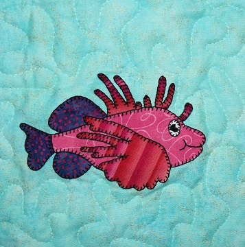 Lionfish Applique by Ms P Designs USA