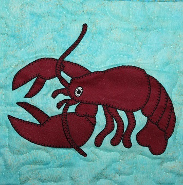 Lobster Applique by Ms P Designs USA