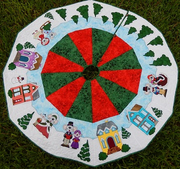Merry Mousy Christmas Tree Skirt 2018 by Ms P Designs USA