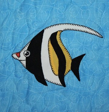 Moorish Idol Applique by Ms P Designs USA