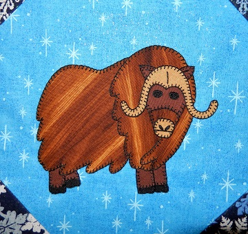 Musk Ox Applique Block by Ms P Designs USA