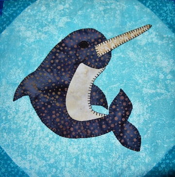 Narwhal Applique Block by Ms P Designs USA