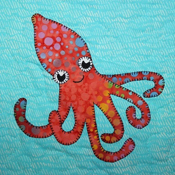 Octopus Applique by Ms P Designs USA