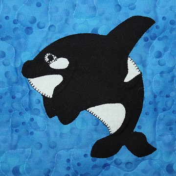 Orca Applique by Ms P Designs USA