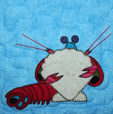 Peacock Mantis Shrimp Applique by Ms P Designs USA