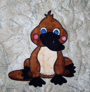 Platypus Applique by Ms P Designs USA