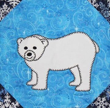 Polar Bear Applique Block by Ms P Designs USA