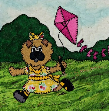 Puppy girl with kite by Ms P Designs USA