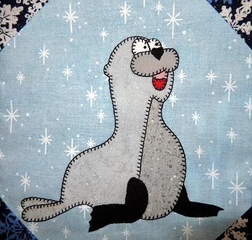 Sea Lion Applique Block by Ms P Designs USA