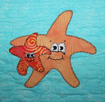 Sea Star Applique by Ms P Designs USA