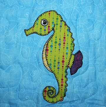 Seahorse Applique by Ms P Designs USA
