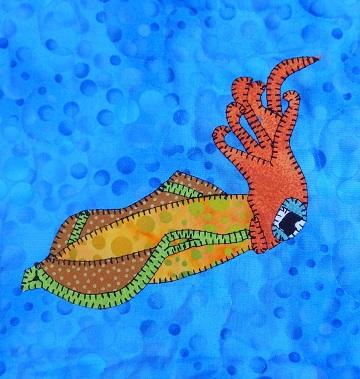 Squid Applique by Ms P Designs USA