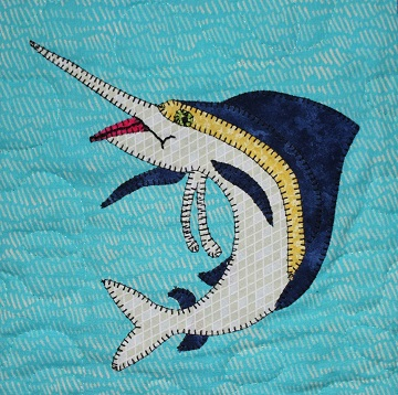 Swordfish Applique by Ms P Designs USA
