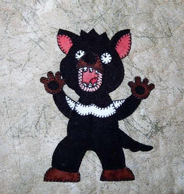 Tasmanian Devil Applique by Ms P Designs USA
