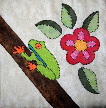 Tree Frog Applique by Ms P Designs USA