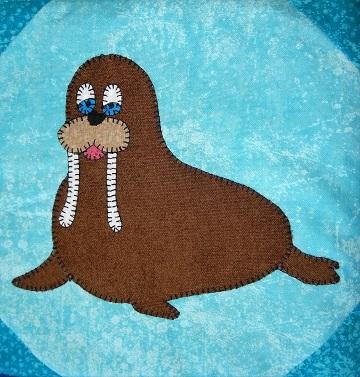 Walrus Applique Block by Ms P Designs USA