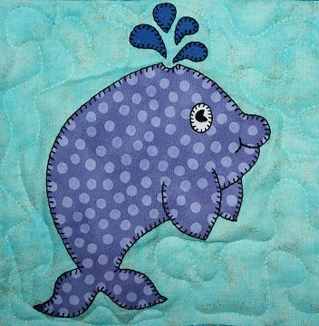 Whale Applique by Ms P Designs USA