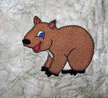 Wombat Applique by Ms P Designs USA