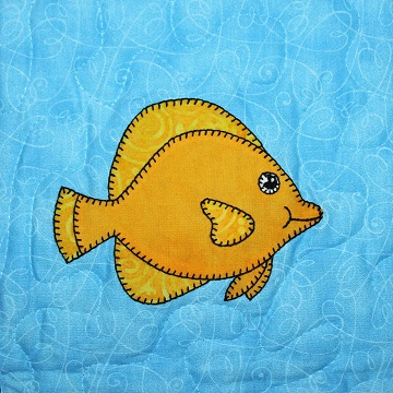 Yellow Tang Applique by Ms P Designs USA