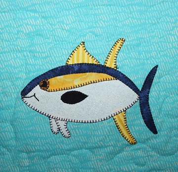 Yellowfin Tuna Applique by Ms P Designs USA