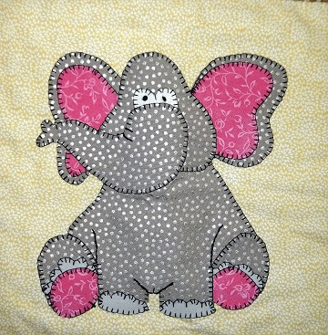African Elephant Applique by Ms P Designs USA