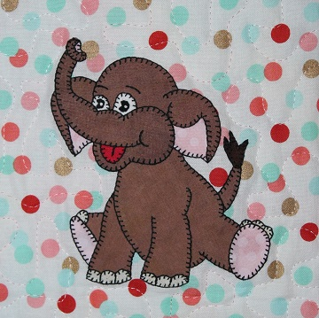 Asian Elephant Applique by Ms P Designs USA