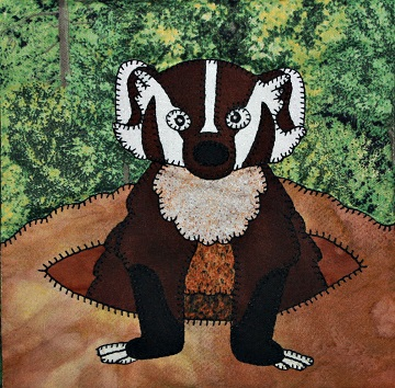 Badger Applique by Ms P Designs USA