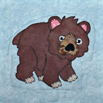 Bear Applique by Ms P Designs USA