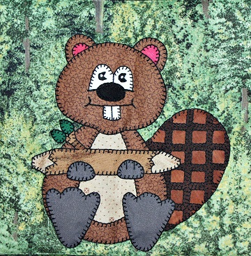 Beaver Applique by Ms P Designs USA