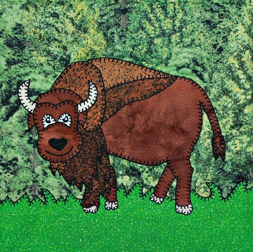 Bison Applique by Ms P Designs USA