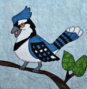 Blue Jay Applique by Ms P Designs USA