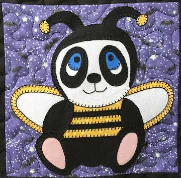 Bumblebee Panda Applique by Ms P Designs USA
