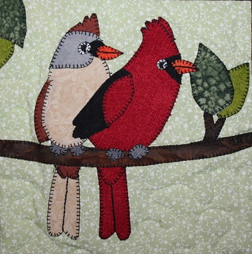 Cardinals Applique by Ms P Designs USA