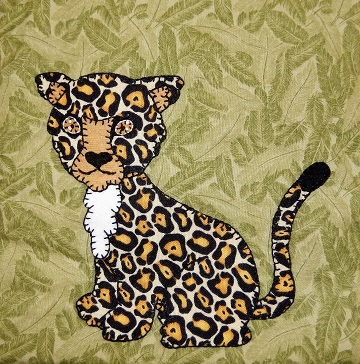 Cheetah Applique by Ms P Designs USA