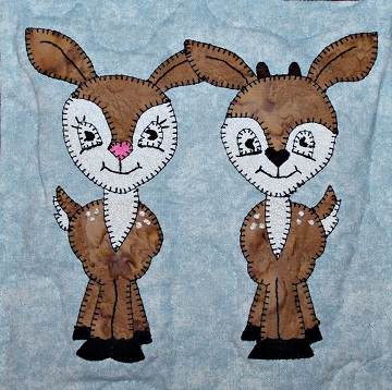 Deer Fawns Applique by Ms P Designs USA