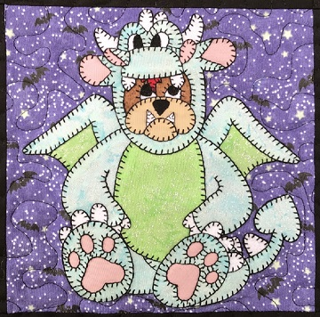 Dragon Bulldog Applique by Ms P Designs USA