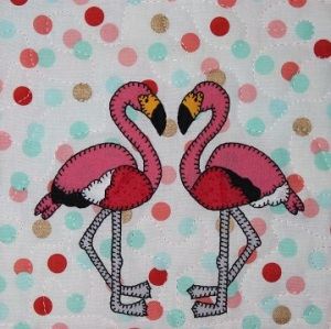 Flamingo Applique by Ms P Designs USA