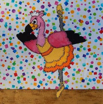 Flamingo Ballerina by Ms P Designs USA
