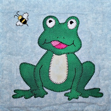 Frog Applique by Ms P Designs USA