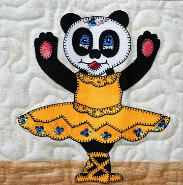 Giant Panda Ballerina by Ms P Designs USA