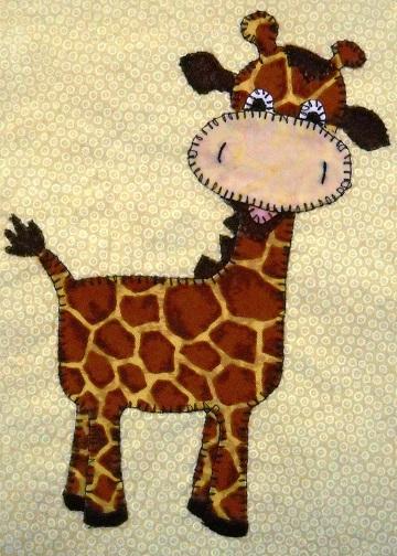 Giraffe Applique by Ms P Designs USA