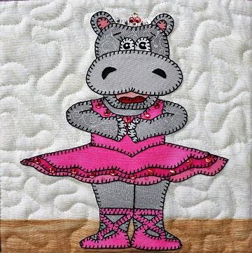 Hippopotamus Ballerina by Ms P Designs USA
